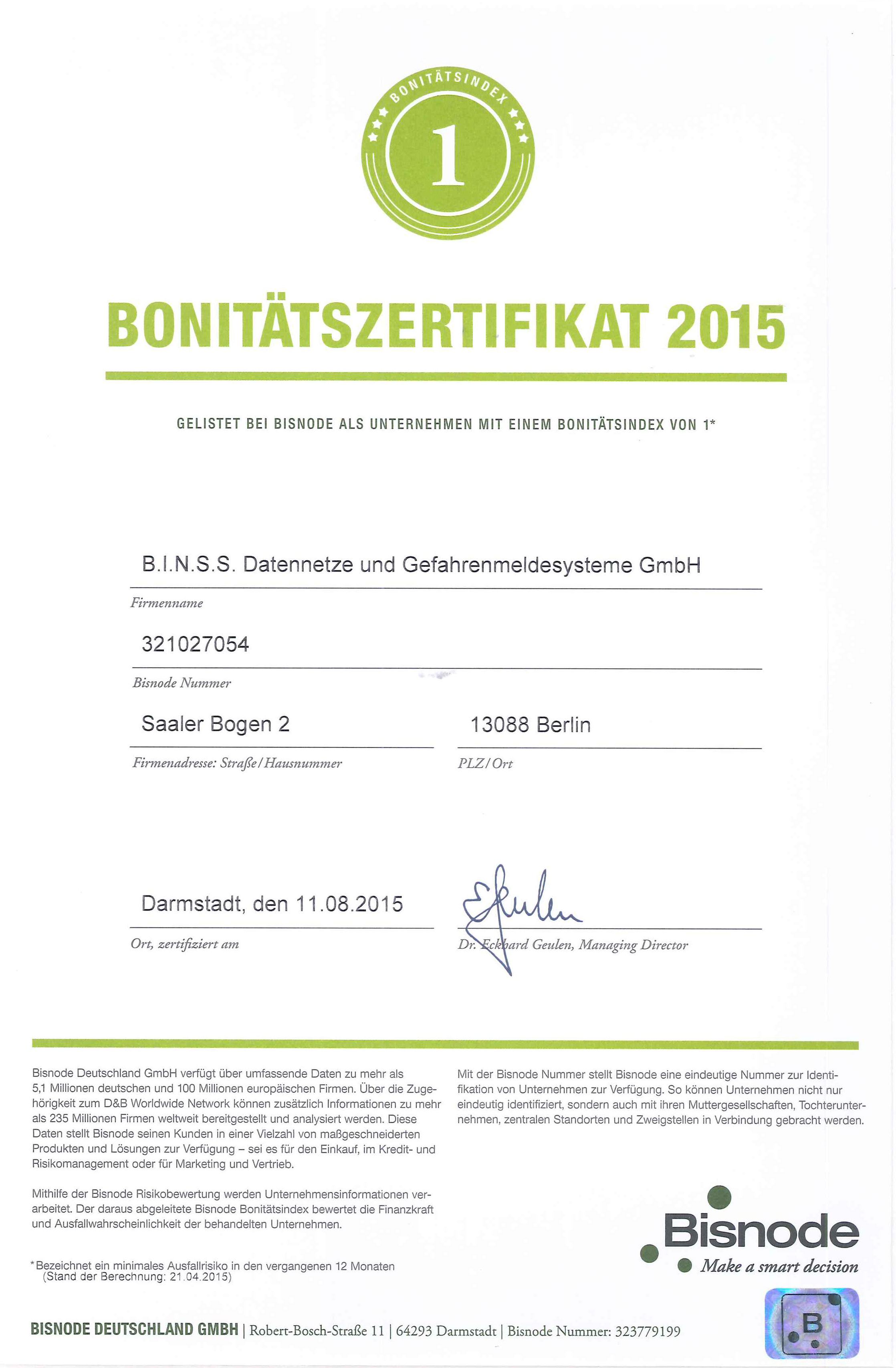 Bonitätszertifikat-2015