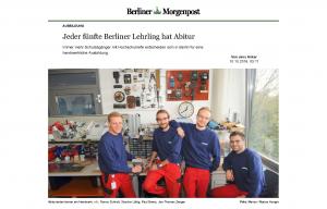 Vier Lehrlinge der B.I.N.S.S. GmbH Berlin