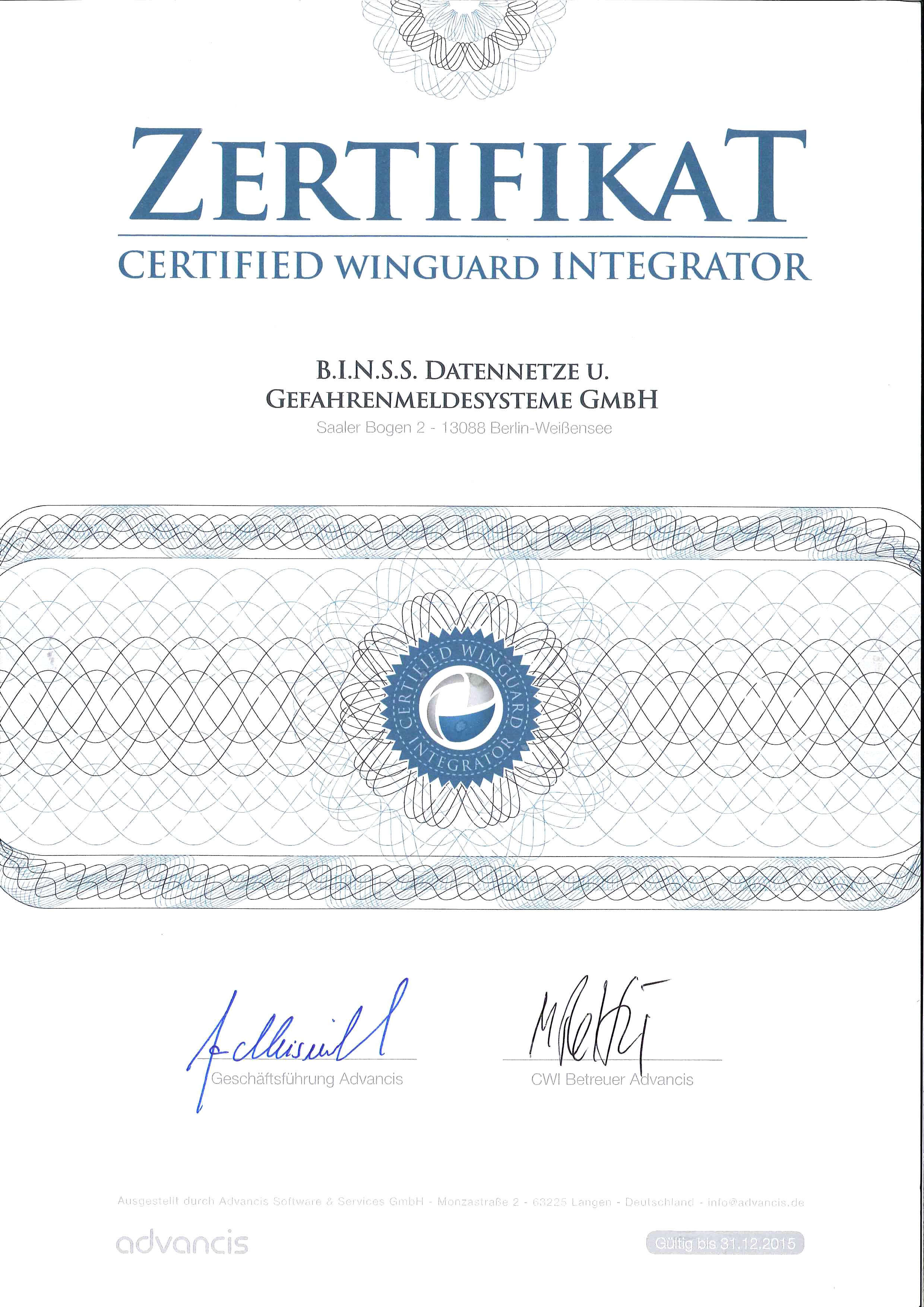 Certified Winguard Integrator