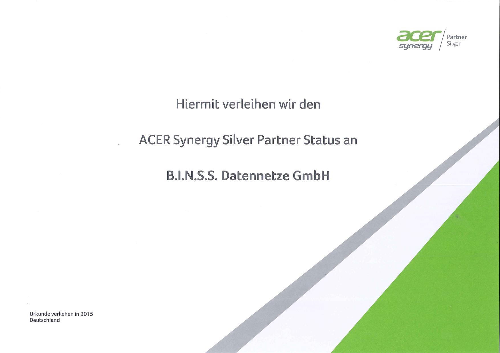 Acer Synergy Silver Partner