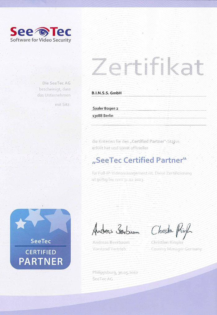SeeTec Certified Partner